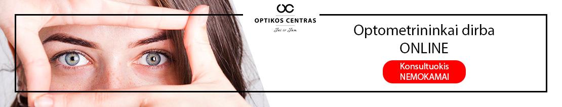 Optometrininkai dirba ONLINE